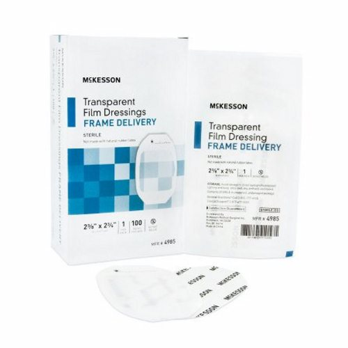 Transparent Film Dressing 23/8 x 2 3/4 Inch  100 Count by McKesson