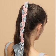 Haargummis mit Schal & Strass Dekor