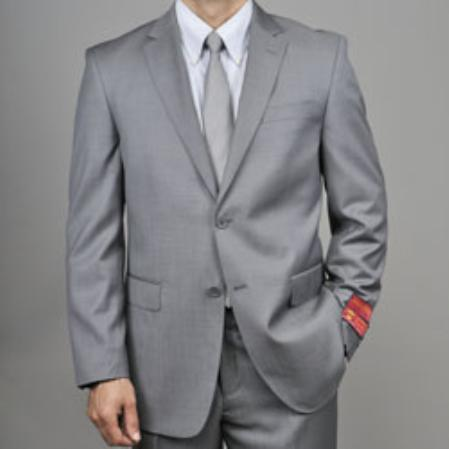Grey 2button Wool Suit