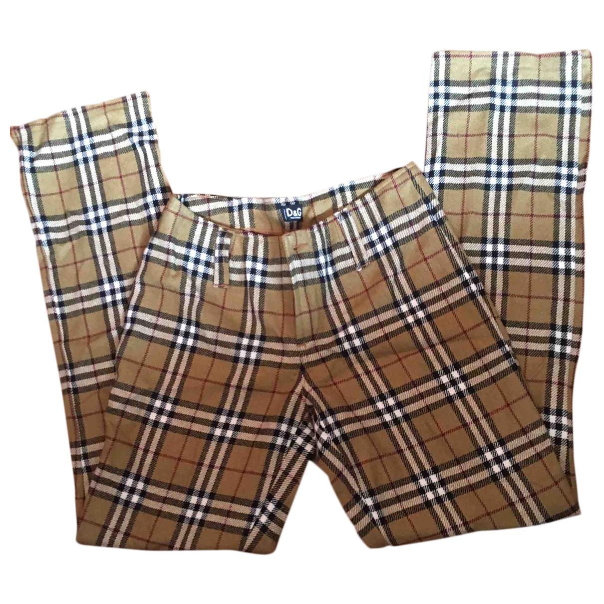 D&g \N Multicolour Wool Trousers for Women 40 IT