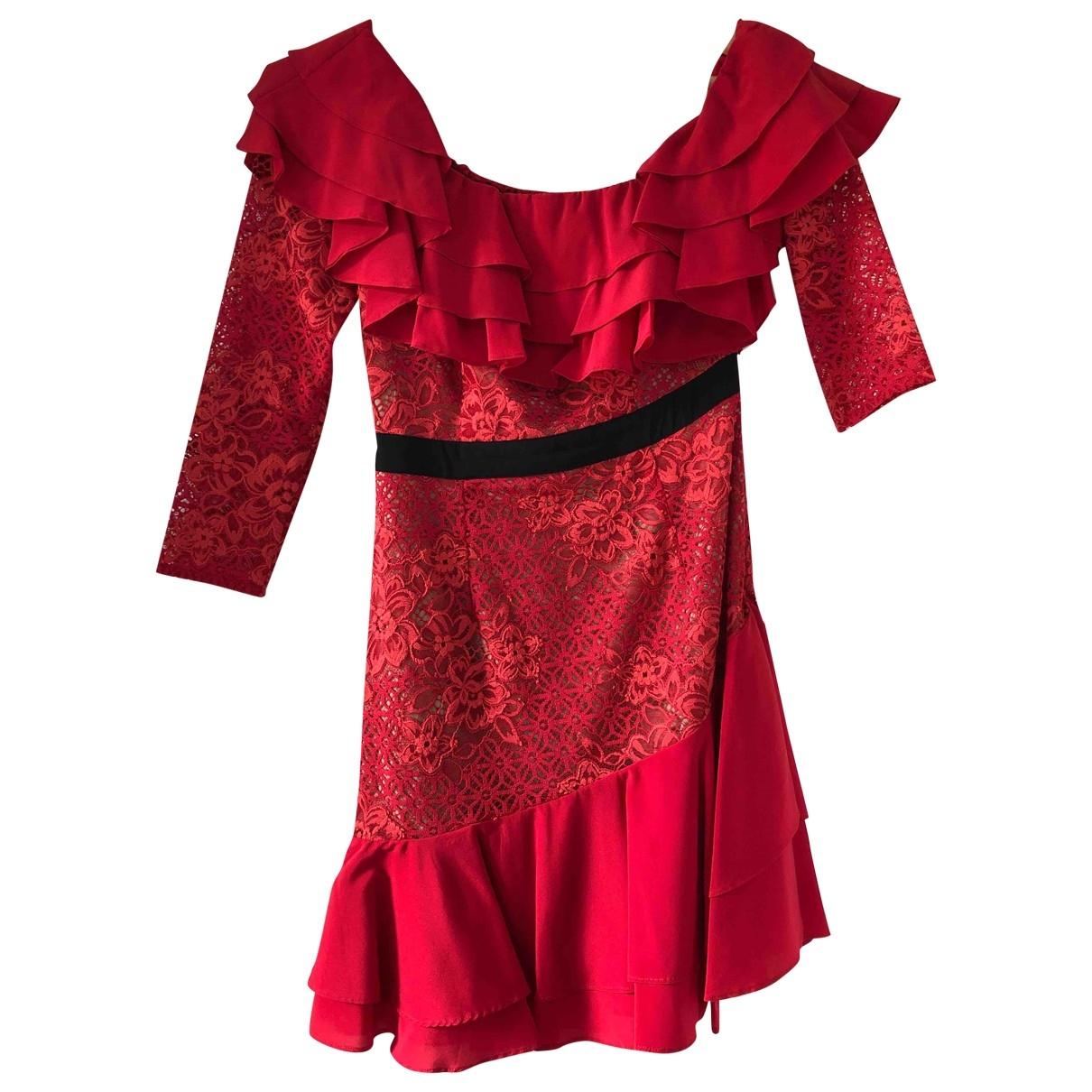 For Love & Lemons - Robe   pour femme en dentelle - rouge