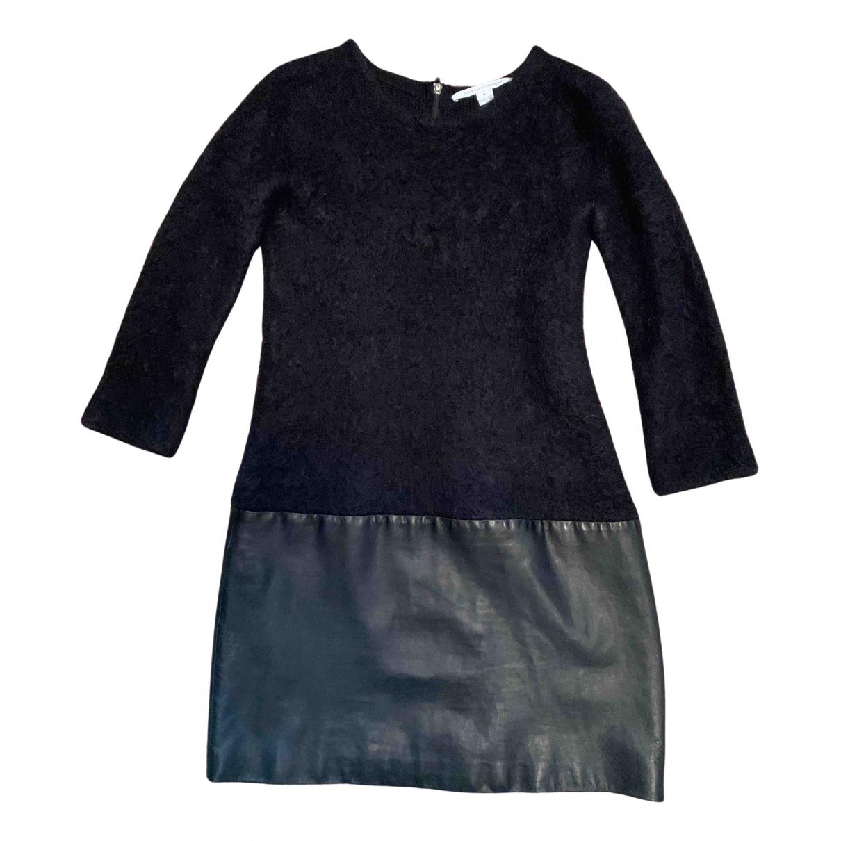 Diane Von Furstenberg \N Kleid in  Schwarz Leder