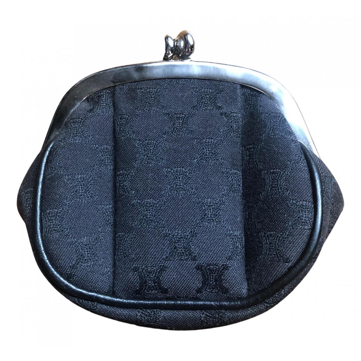 Celine - Petite maroquinerie   pour femme en toile - noir