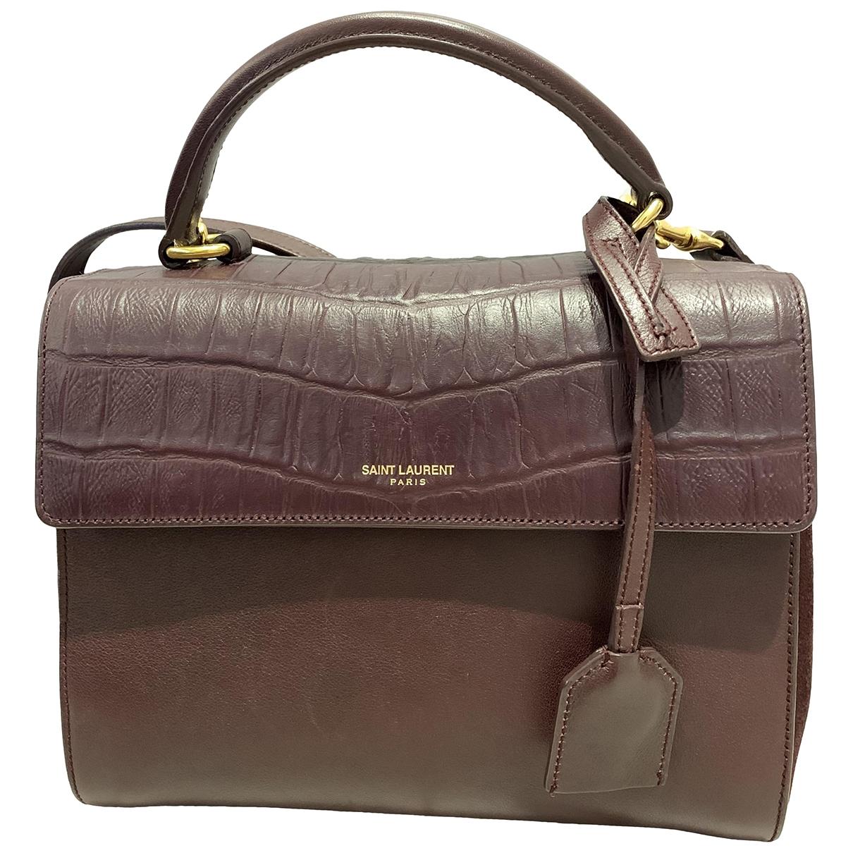 Saint Laurent Moujik Burgundy Leather handbag for Women \N