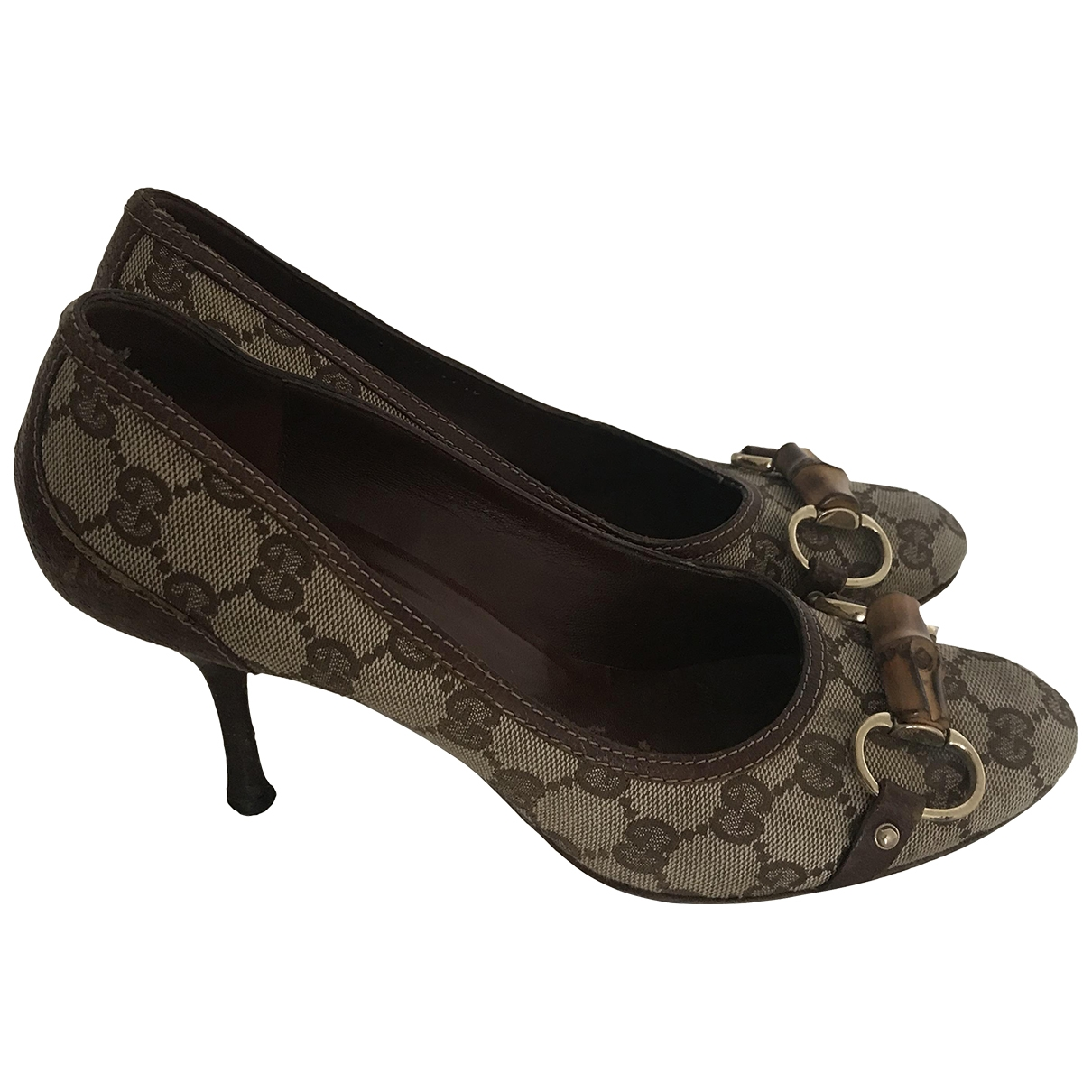Gucci \N Brown Cloth Heels for Women 7.5 US