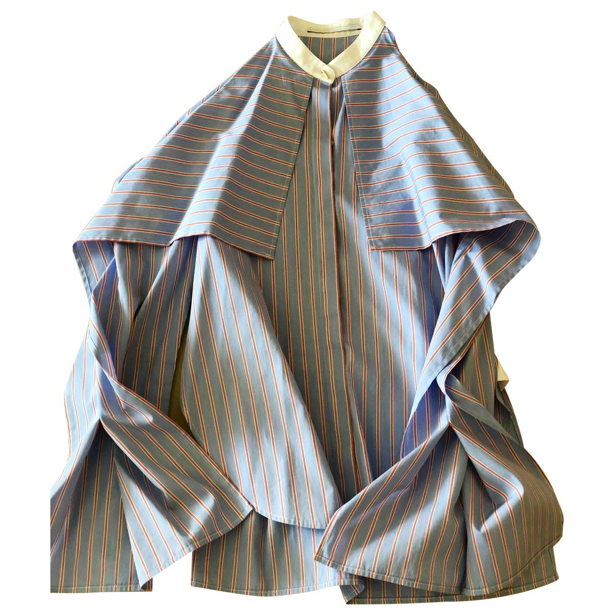 Rosetta Getty - Top   pour femme en coton - bleu