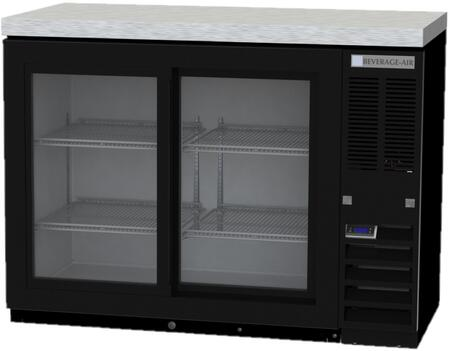 BB48HC-1-F-GS-B-27 48 Food Rated Back Bar Refrigerator with 12.4 cu. ft. Capacity  LED Lighting  Sliding Glass Doors  and Epoxy Coated Shelves in