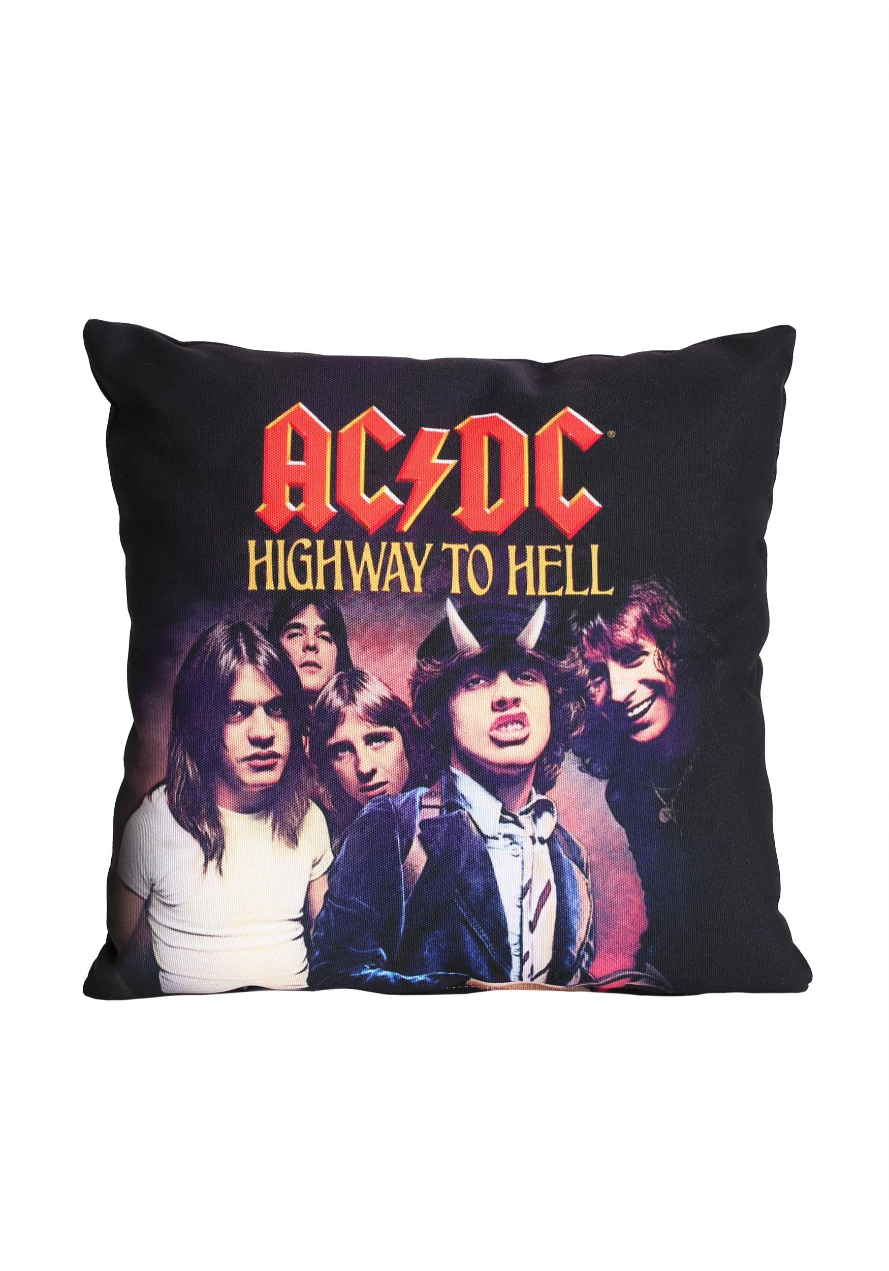AC/DC Highway to Hell 14 x 14 Throw Pillow