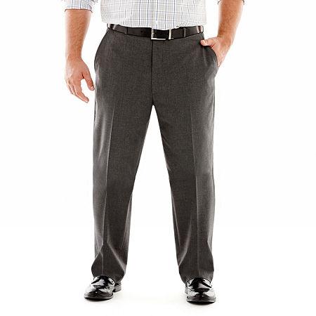 JF J. Ferrar Stretch Gabardine Suit Pants-Big & Tall, 48 30, Black
