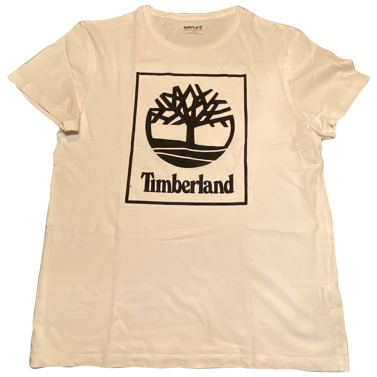 Timberland - Tee shirts   pour homme en coton - blanc