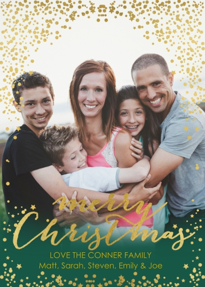 Christmas Photo Cards Mail-for-Me Premium 5x7 Folded Card , Card & Stationery -Illustrious Christmas - Folded
