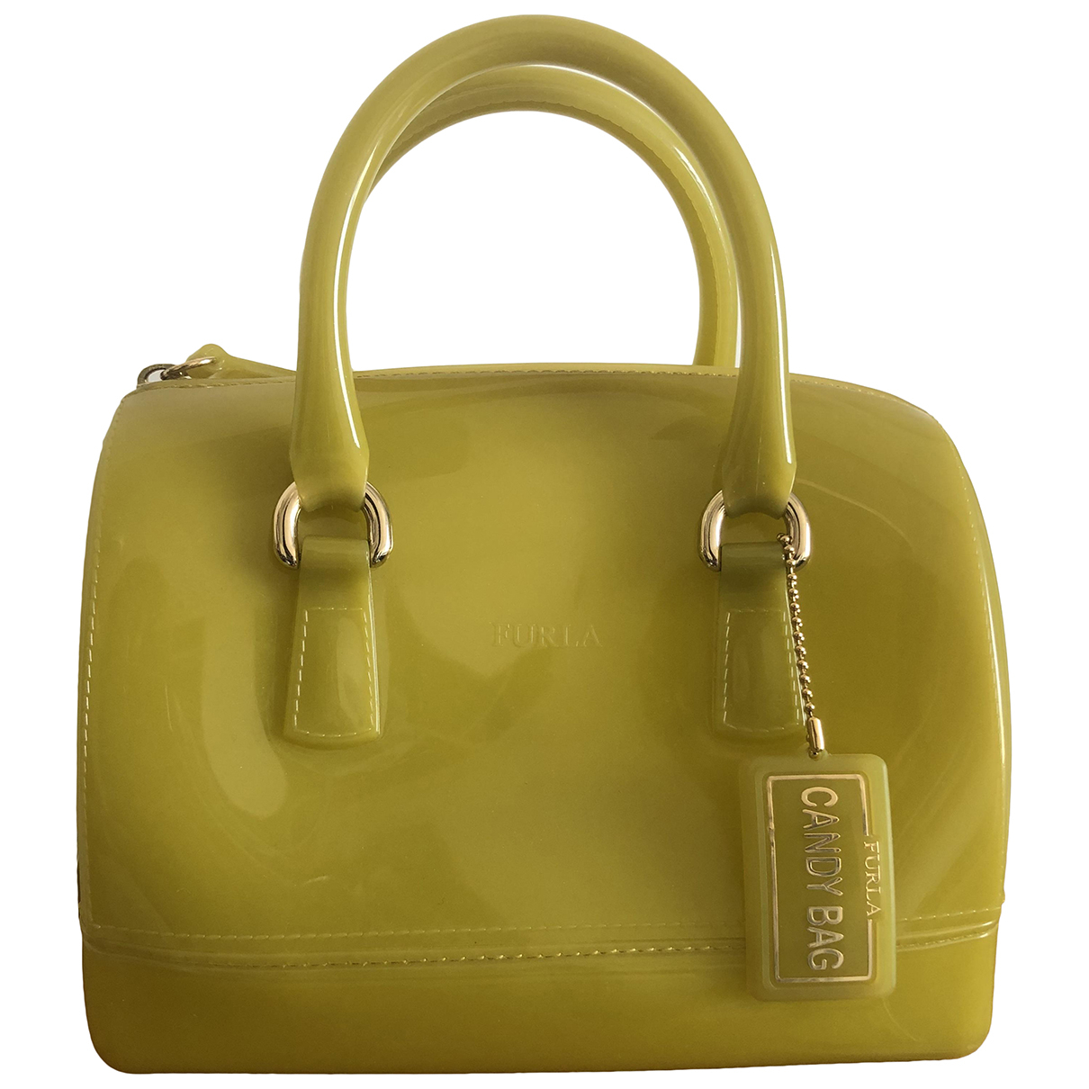 Furla Candy Bag Yellow handbag for Women N