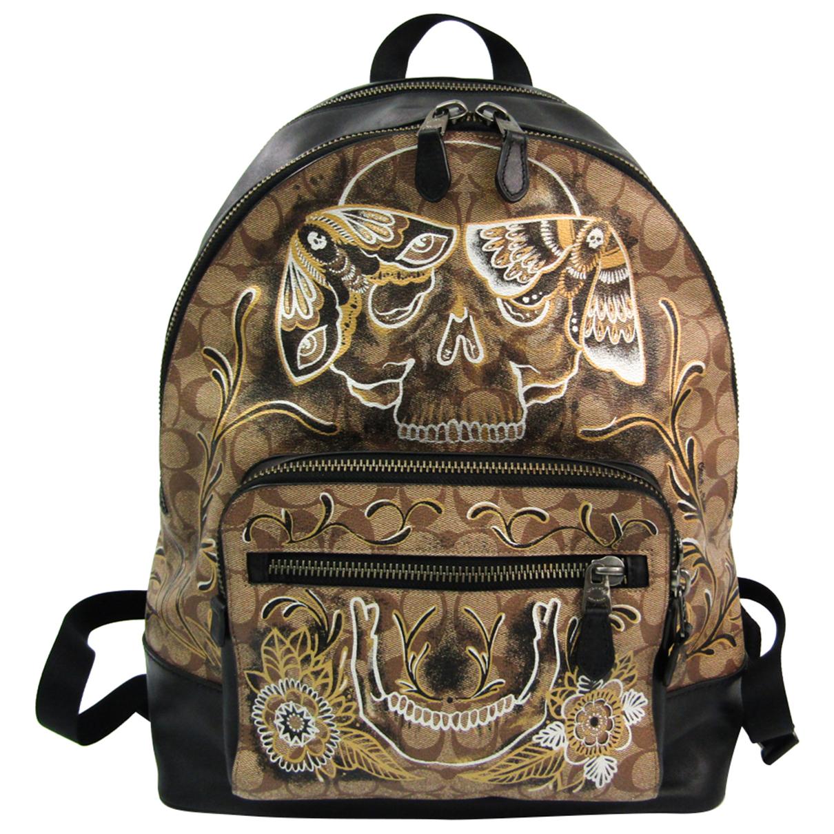 Coach N Beige Leather bag for Men N