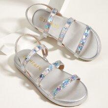 Toddler Girls Triple Strap Sandals
