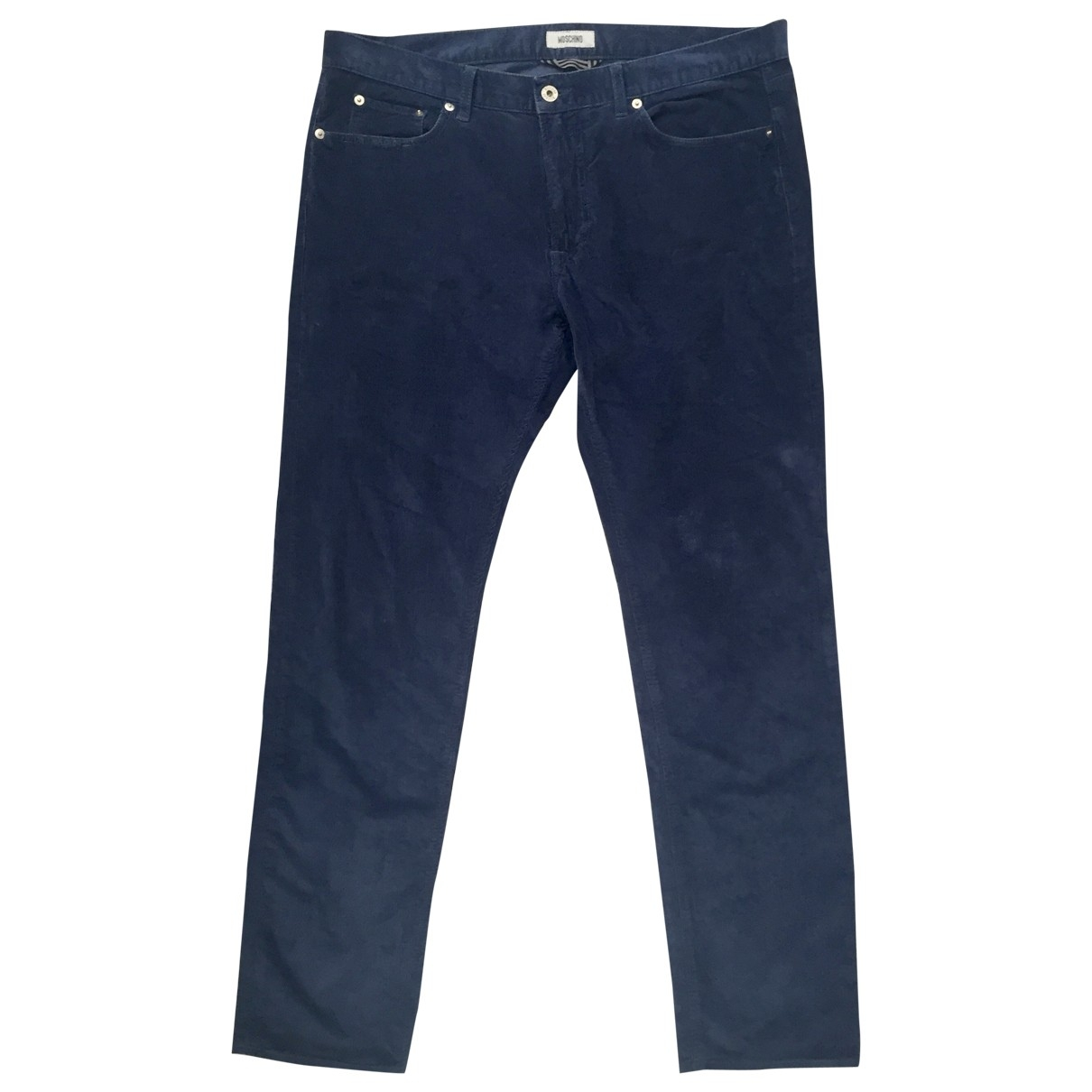 Moschino \N Navy Cotton Trousers for Men 54 IT