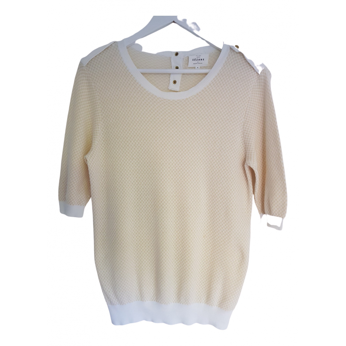 Sézane Spring Summer 2019 Beige Cotton Knitwear for Women L International