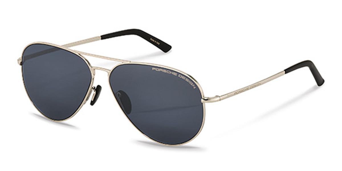 Porsche Design P8686 C Men's Sunglasses Silver Size 62