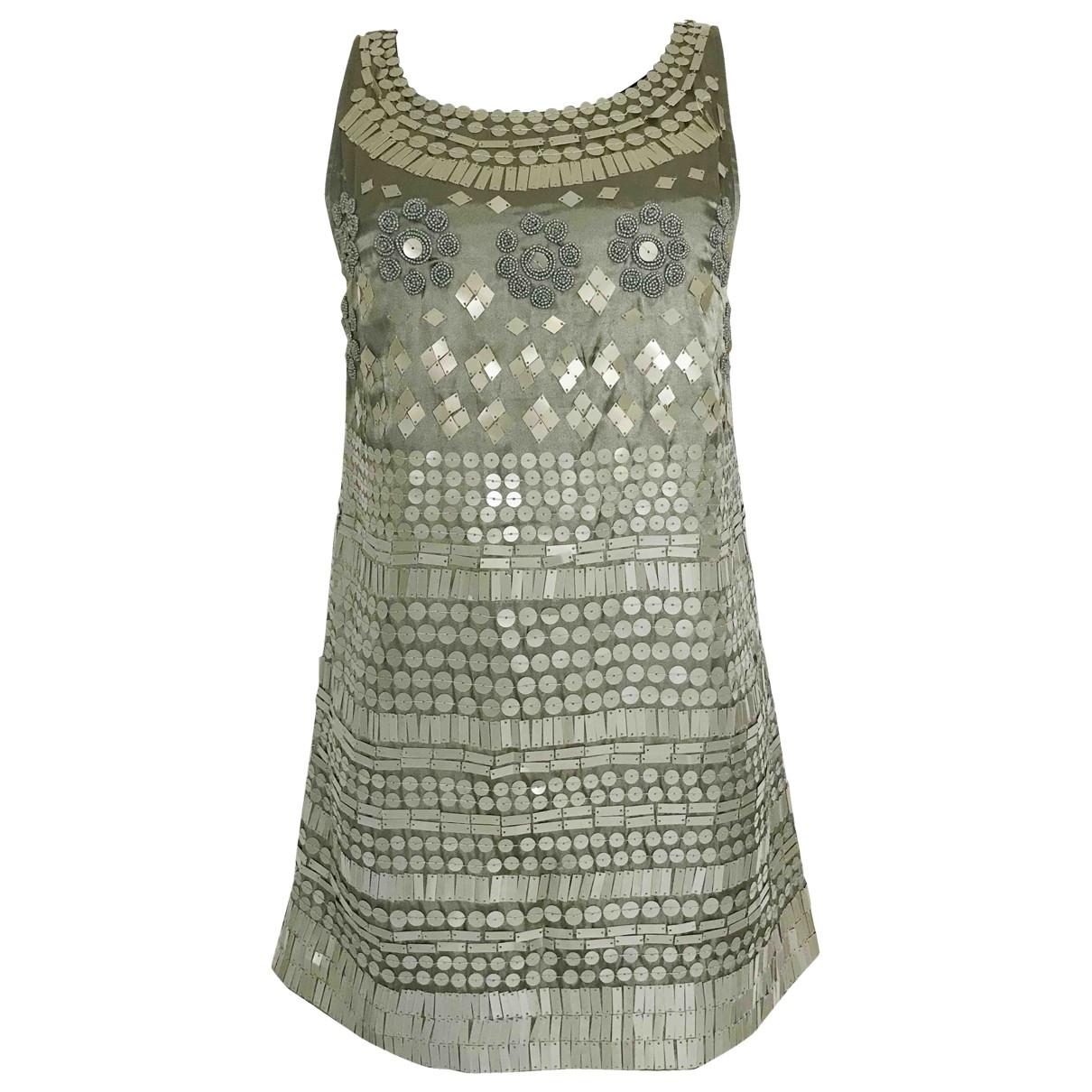 Liu.jo \N Kleid in  Khaki Polyester