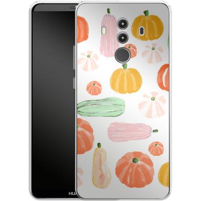 Huawei Mate 10 Pro Silikon Handyhuelle - Pumpkin Pattern White von Mukta Lata Barua