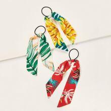 Tropical Print Hair Tie 3pack