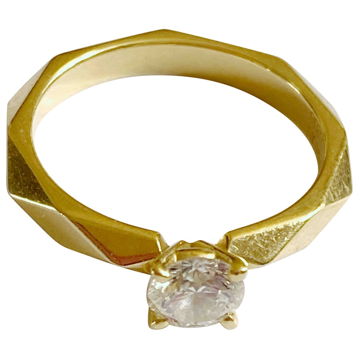 Boucheron - Bague Facette pour femme en or jaune - jaune