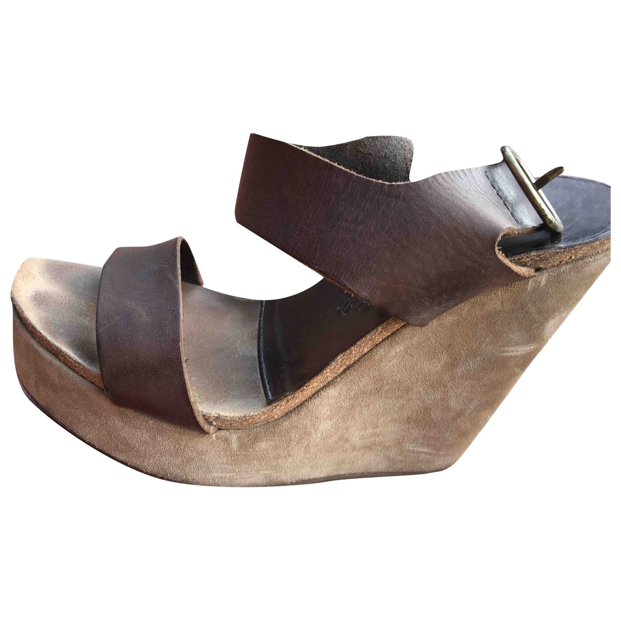 Pedro Garcia \N Brown Leather Sandals for Women 38.5 EU