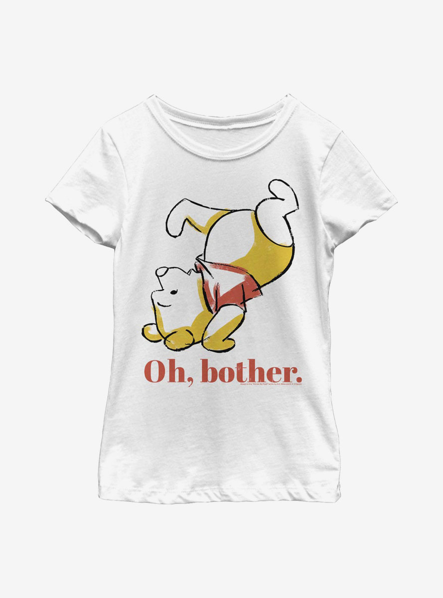 Disney Winnie The Pooh Oh Bother Bear Youth Girls T-Shirt