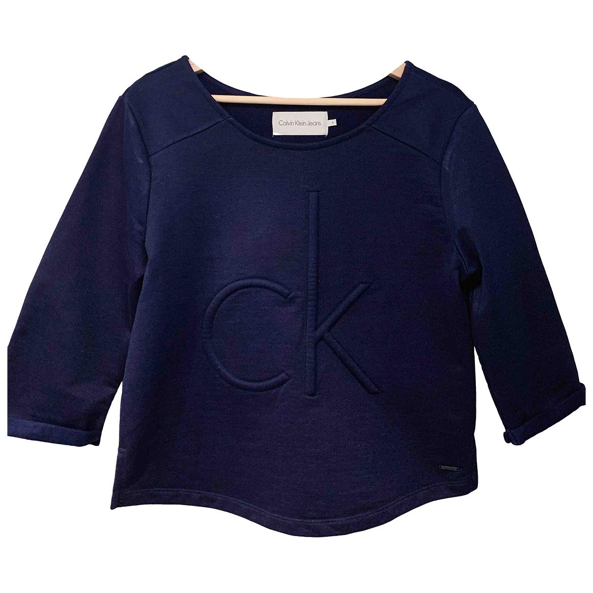 Calvin Klein - Pull   pour femme - bleu