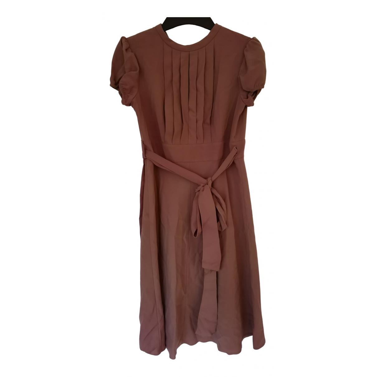Red Valentino Garavani \N Kleid in  Beige Polyester