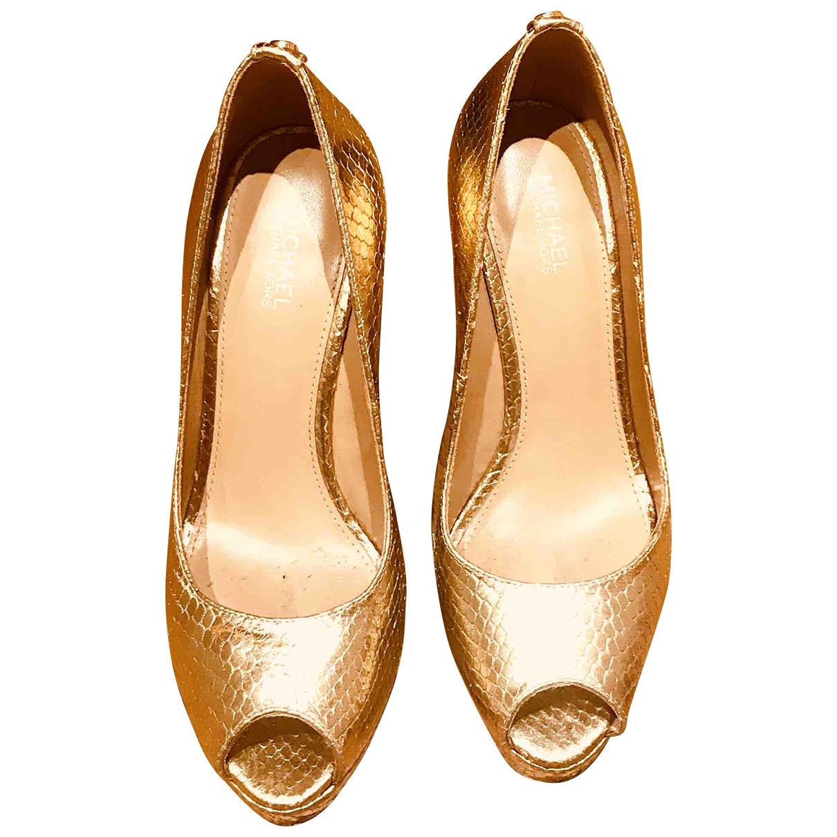Michael Kors \N Gold Glitter Heels for Women 6 US