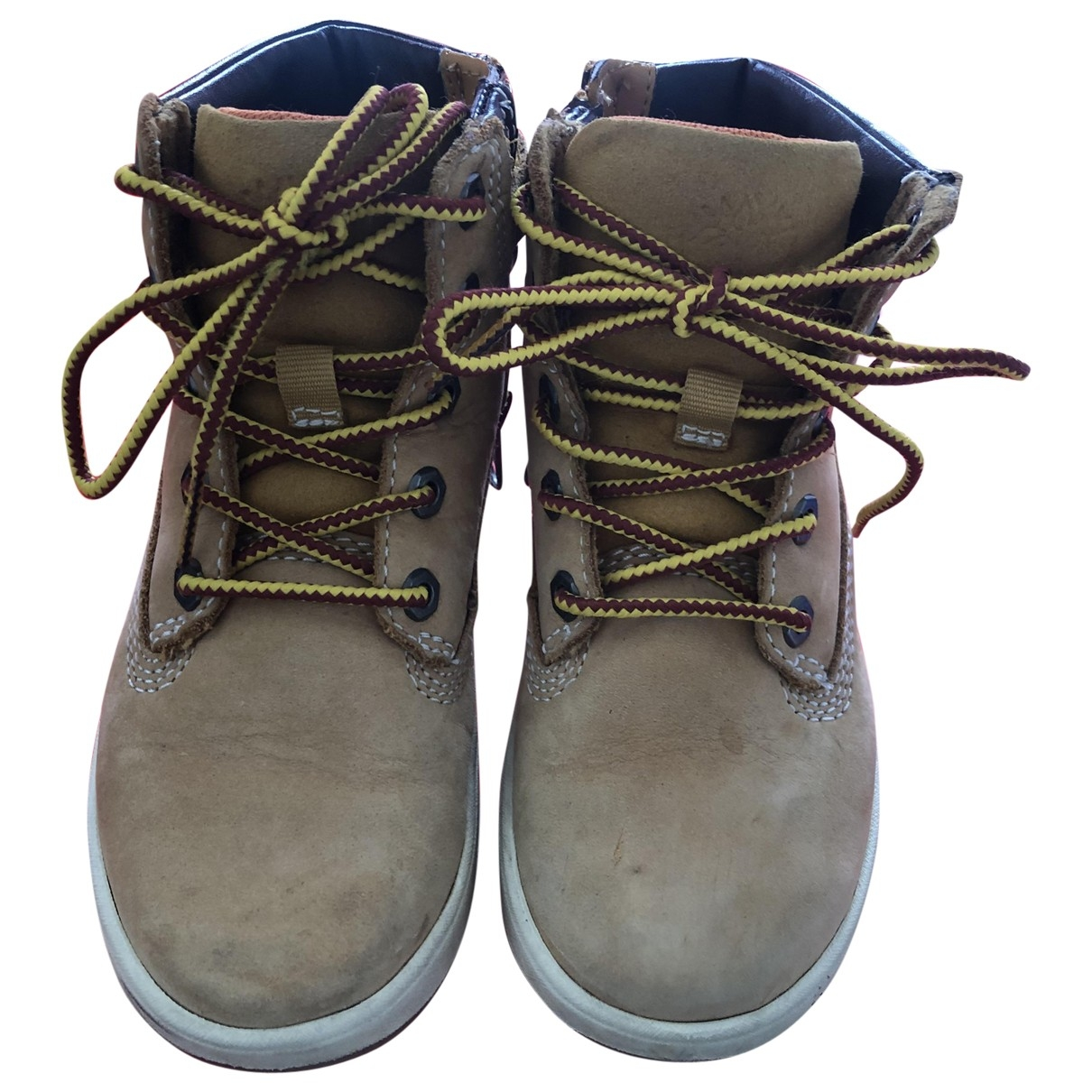 Timberland \N Beige Leather Boots for Kids 26 EU