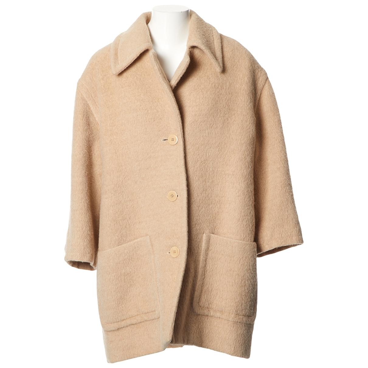Celine \N Beige Wool coat for Women 42 FR