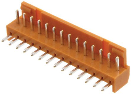 JAE , IL-G, 14 Way, 1 Row, Right Angle PCB Header (10)
