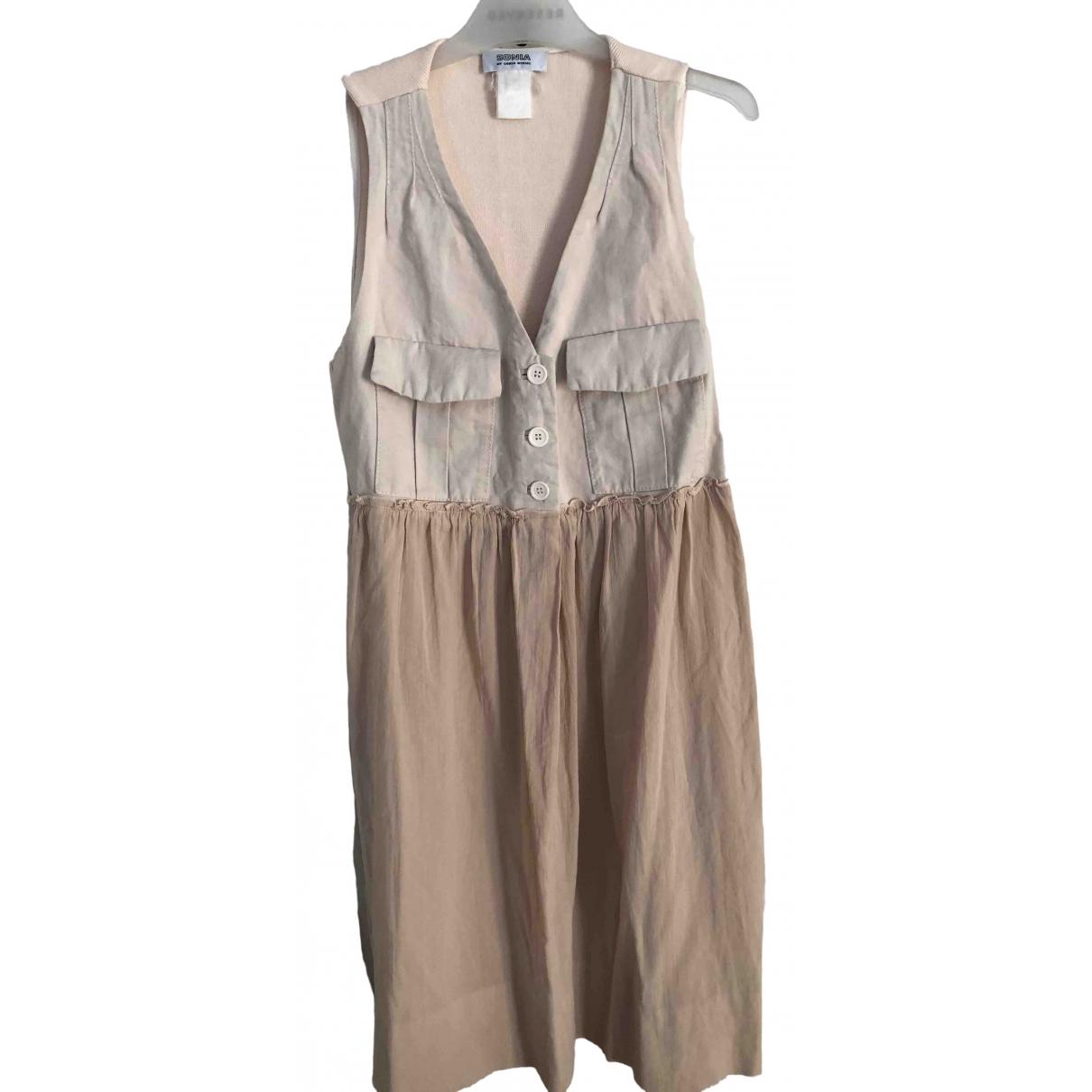 Sonia By Sonia Rykiel \N Beige Cotton dress for Women 40 FR