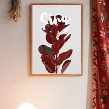 Leinwandbild mit Pflanzen Muster ohne Rahmen