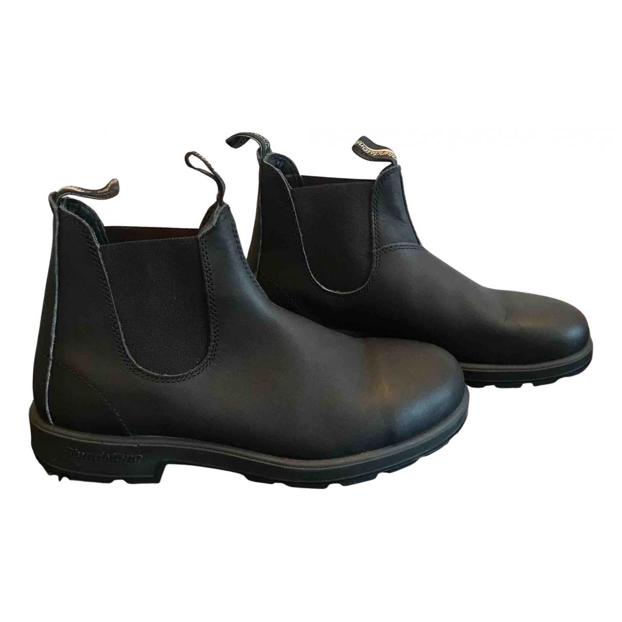 Blundstone \N Stiefel in  Schwarz Leder
