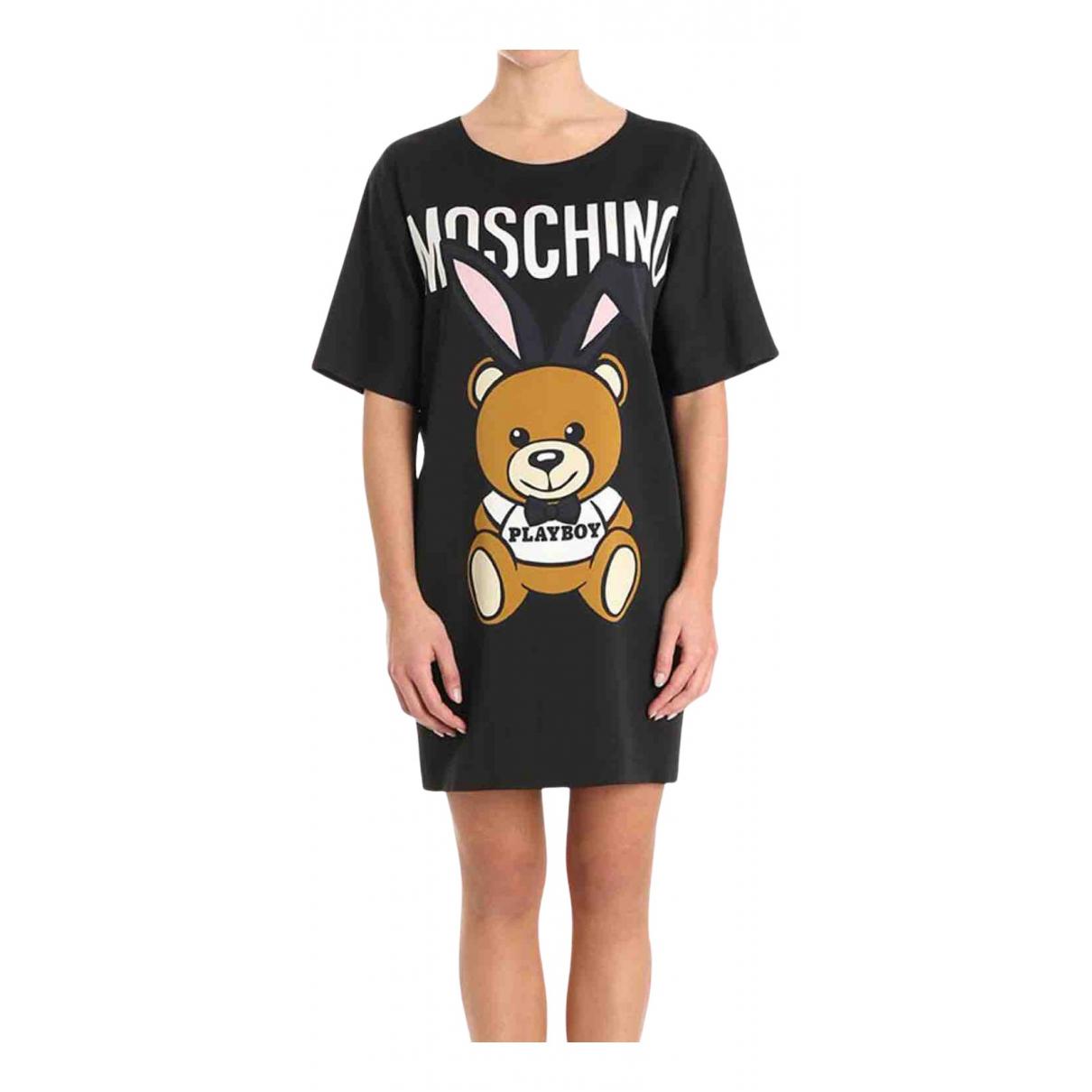 Moschino - Robe   pour femme en coton - elasthane - noir