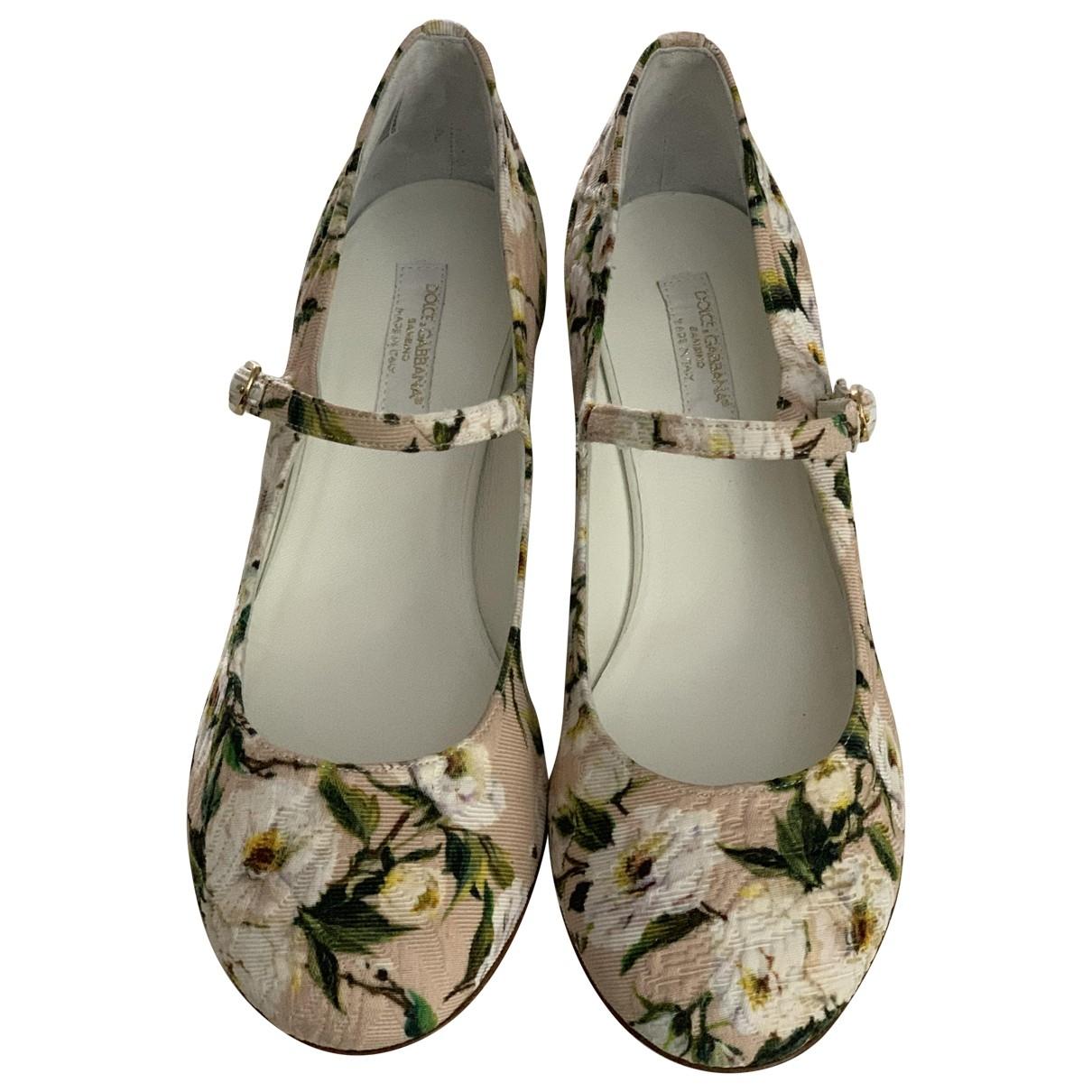 Dolce & Gabbana \N Ballerinas in  Bunt Leinen