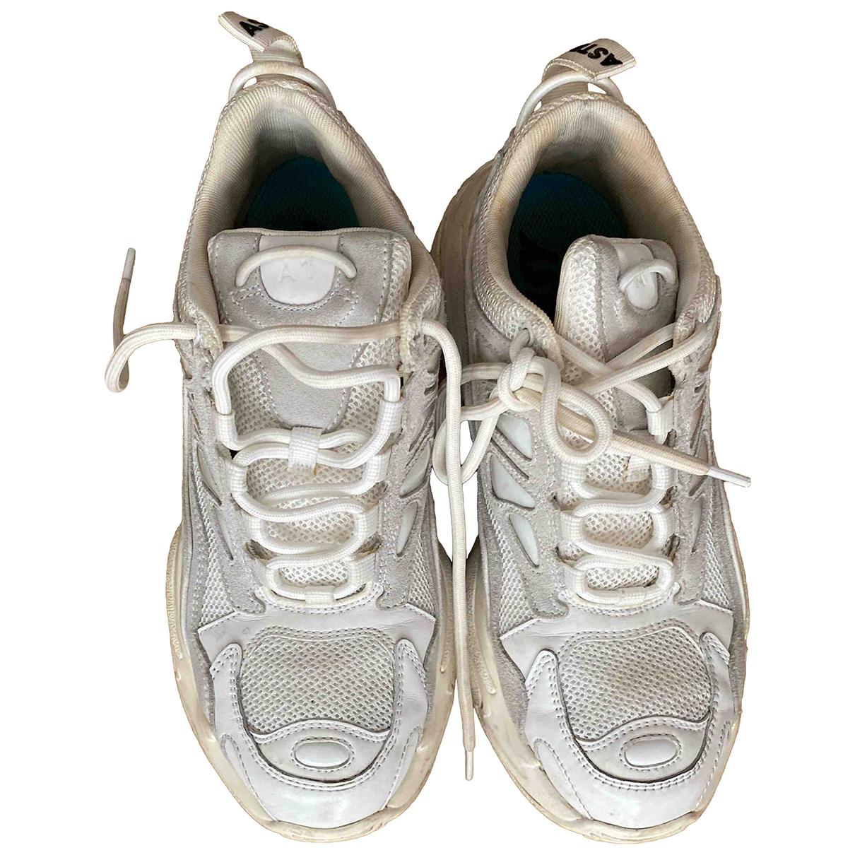 Sandro - Baskets Astro pour femme en cuir - blanc