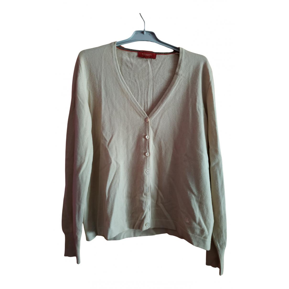 Burberry N Beige Wool Knitwear for Women 48 FR
