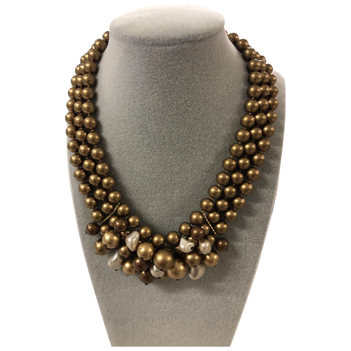 Non Signé / Unsigned Nacre Metallic Pearls necklace for Women \N