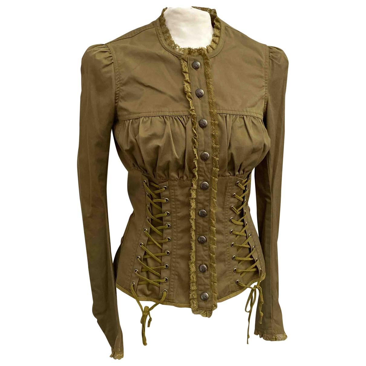 Blumarine - Veste   pour femme en coton - vert