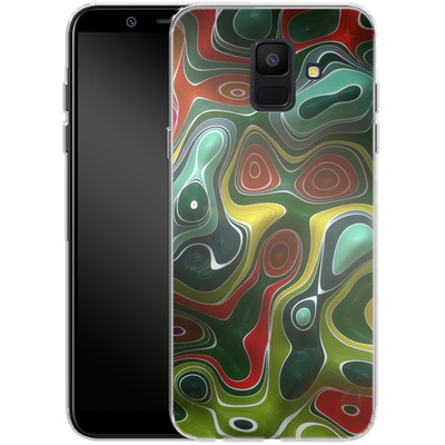 Samsung Galaxy A6 Silikon Handyhuelle - Weird Green von Danny Ivan