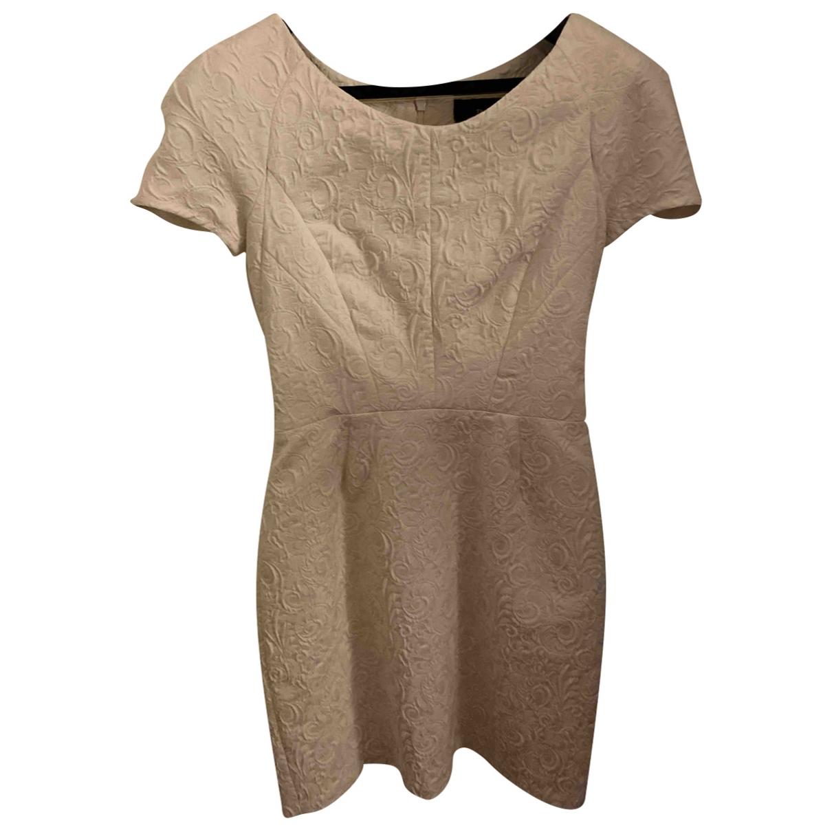The Kooples \N White Cotton - elasthane dress for Women S International