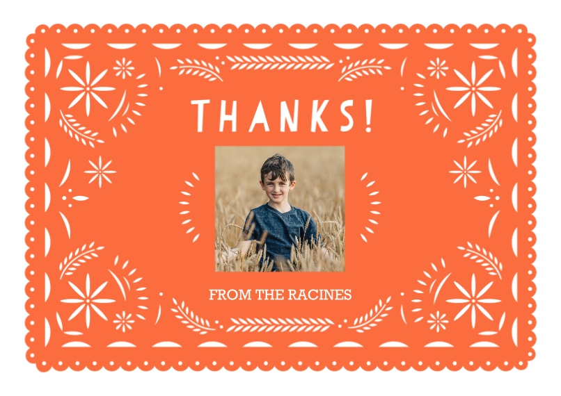 Kids Birthday Thank You Flat Glossy Photo Paper Cards with Envelopes, 5x7, Card & Stationery -Paper Art Fiesta Thank You