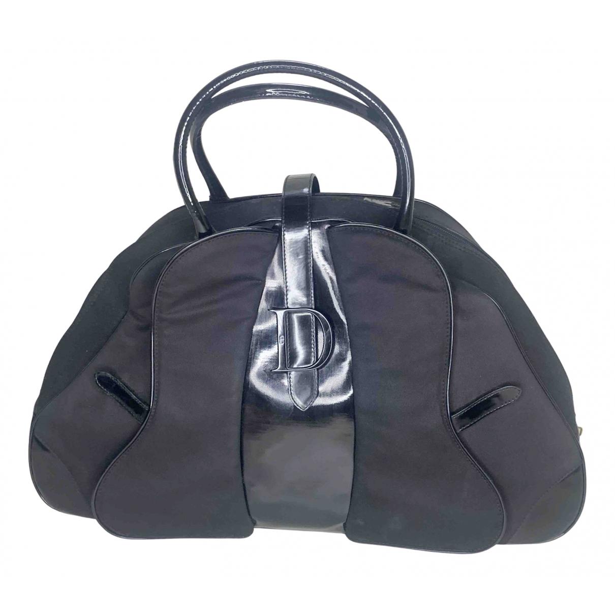 Dior - Sac a main Saddle Bowler pour femme en toile - noir