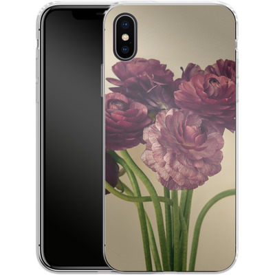 Apple iPhone X Silikon Handyhuelle - Purple Ranunculus 4 von Joy StClaire