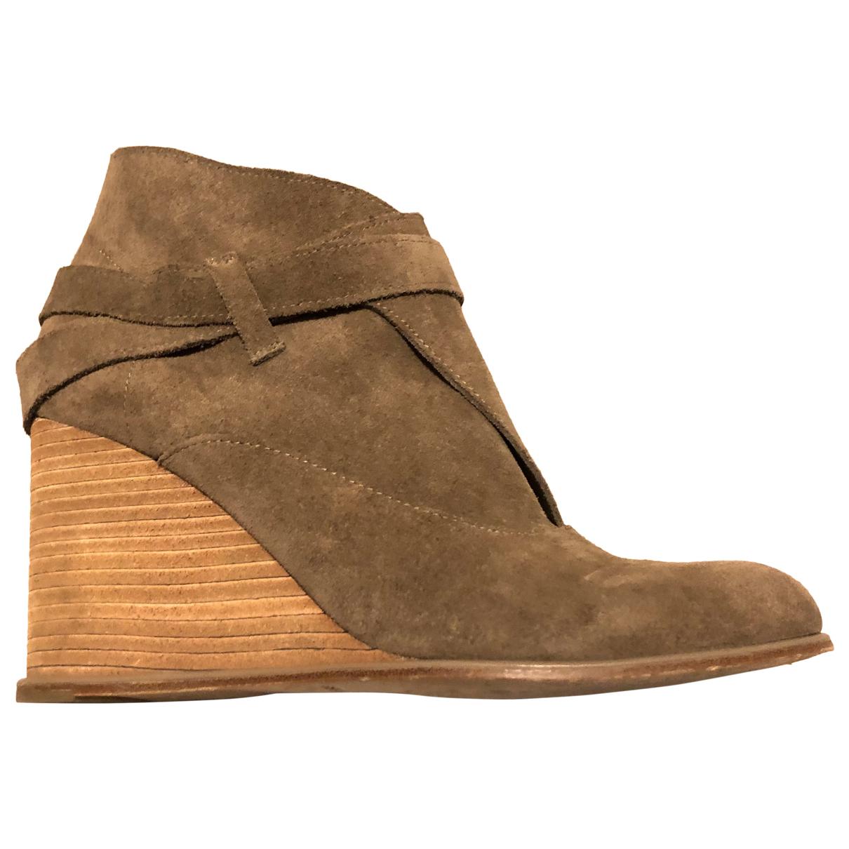 See By Chloe - Boots   pour femme en cuir - beige