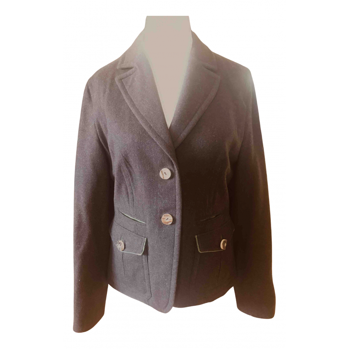Non Signé / Unsigned N Brown Wool jacket for Women L International