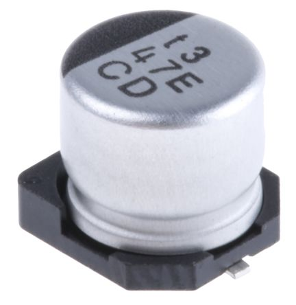 Nichicon 47μF Electrolytic Capacitor 25V dc, Surface Mount - UCD1E470MCL1GS (10)